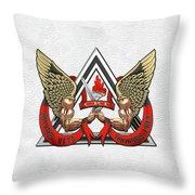 C.d.c.r. Crisis Response Team - C.r.t. Patch Over White Throw Pillow