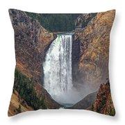 Lower Yellowstone Falls Throw Pillow