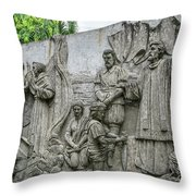 Cebu Carvings Throw Pillow