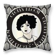 Cecely Bloom Deco Portrait Throw Pillow