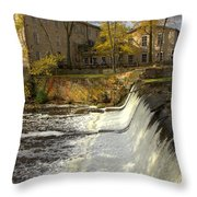 Cedar Creek Dam Throw Pillow