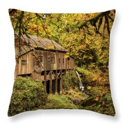 Cedar Creek Grist Mill Throw Pillow