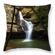Cedar Falls - Hocking Hills Ohio Waterfall Throw Pillow