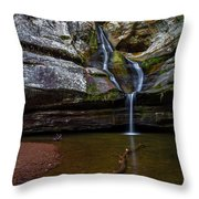Cedar Falls In Hocking Hills State Park Throw Pillow