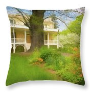 Cedar Grove In Spring Throw Pillow