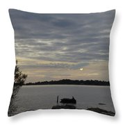 Cedar Key Moonrise Throw Pillow