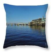 Cedar Key Pier Throw Pillow