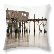 Cedar Key Structure Throw Pillow by Patrick M Lynch