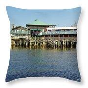 Cedar Key Waterfront Throw Pillow