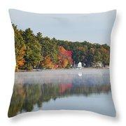 Cedar Lake Reflection Throw Pillow
