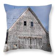 Cedar Shake Barn Throw Pillow
