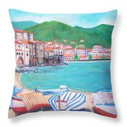 Cefalu In Sicily Throw Pillow