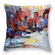 Cefalu Seaside Throw Pillow