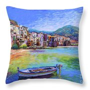 Cefalu Sicily Italy Throw Pillow