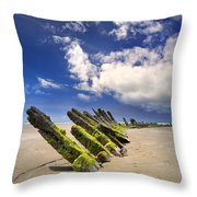 Cefn Sidan Beach 3 Throw Pillow