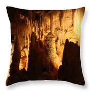 Ceiling Formations - Cave Throw Pillow