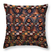 Ceiling Of Angels, Abba Pantaleon Monastery  Throw Pillow
