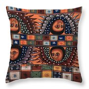 Ceiling Of Angels  Throw Pillow