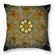 Ceiling Of The Berlin Cathedral Throw Pillow