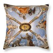 Ceiling Of The Chapel Of Eleonora Of Toledo Throw Pillow