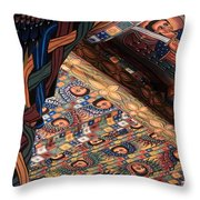 Ceiling Paintings, Abba Pantaleon Monastery Throw Pillow