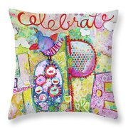 Celebrate Hope Throw Pillow