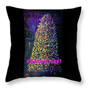 Celebrate In Lights Throw Pillow