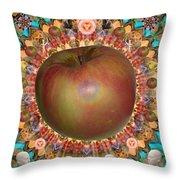 Celebrate The Apple Throw Pillow