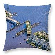 Celebrate The Swing Bridge Throw Pillow