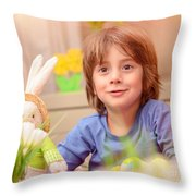 Celebrating Easter Holiday Throw Pillow