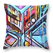 Celebrating The Future - Left Throw Pillow