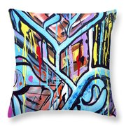 Celebrating The Future - Right Throw Pillow