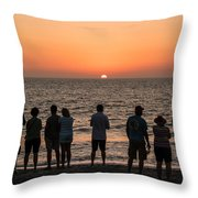Celebrating The Sunset Throw Pillow