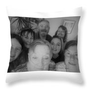 Celebrating With Friends Throw Pillow
