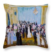 Celebrating With Julie And Jonathan 06/16/2018 Throw Pillow