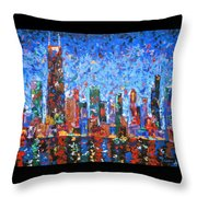 Celebration City Throw Pillow