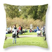 Celebration Of Life In Colorful Skirts Throw Pillow