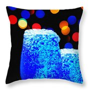 Celebrations With Blue Lagon Throw Pillow