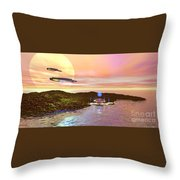Celeron 3 Throw Pillow