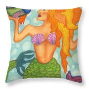 Celeste The Mermaid Throw Pillow