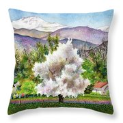 Celeste's Farm Throw Pillow