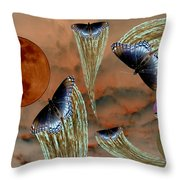 Celestial Butterflies Throw Pillow