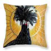 Celestial Chicken - Lady Hawk Throw Pillow