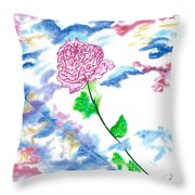 Celestial Rose Throw Pillow