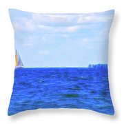 Celestial Skies Sailing The Blue Throw Pillow