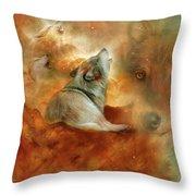 Celestial Wolves 2 Throw Pillow