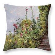 Celia Thaxters Garden Throw Pillow