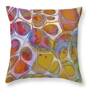 Cell Abstract 14 Throw Pillow