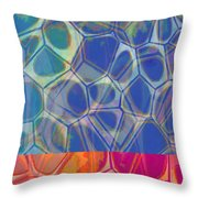 Cell Abstract One Throw Pillow