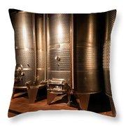 Modern Wine Cellar  Throw Pillow